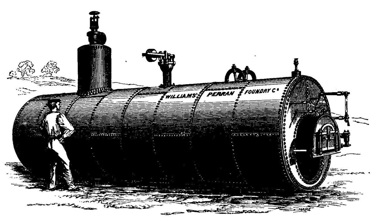 Williams Perran Foundry Co cornish boiler